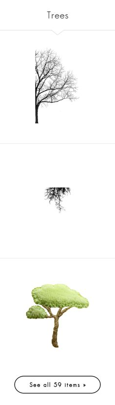 """Trees"" by sjk921 ❤ liked on Polyvore featuring fillers, backgrounds, trees, effects, flowers, doodles, textures, text, borders and details"