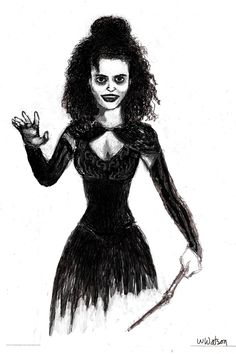 Bellatrix (revised).  Same drawing from before but I think it looks a little more like her now.
