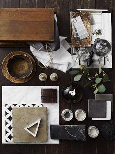 Warm naturals with black & grey