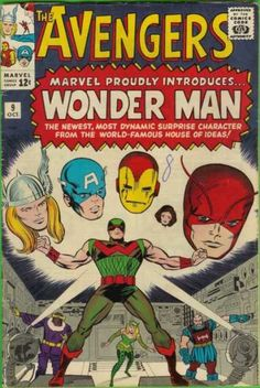 Simon Williams, as Wonder man, first appeared in Avengers #9, October 1964. He was a bad guy at that time, reformed and joined the Avengers in 1977.