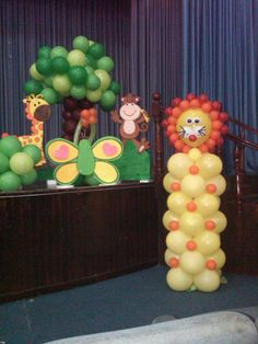 Set de fotos decoracion con globos motivo safari bebe - Decoracion fiesta jardin ...