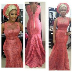Wedding Nigerian Lace Styles, Aso Ebi Lace Styles, Lace Gown Styles, African Lace Styles, African Lace Dresses, Latest African Fashion Dresses, African Print Fashion, African Wedding Attire, African Attire