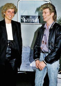 David Bowie with HRH Diana Princess of Wales Princesa Diana, David Jones, The Thin White Duke, Major Tom, Ziggy Stardust, Lady Diana Spencer, Princess Of Wales, Queen Of Hearts, My Idol