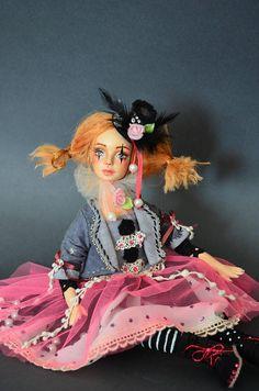 burlesque OOAK doll Fairy doll  Art Doll