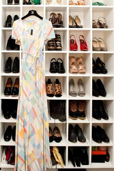 How do you store your treasures?  I'm still looking for the perfect shoe storage idea.  Shoes... with a little vintage CHANEL.