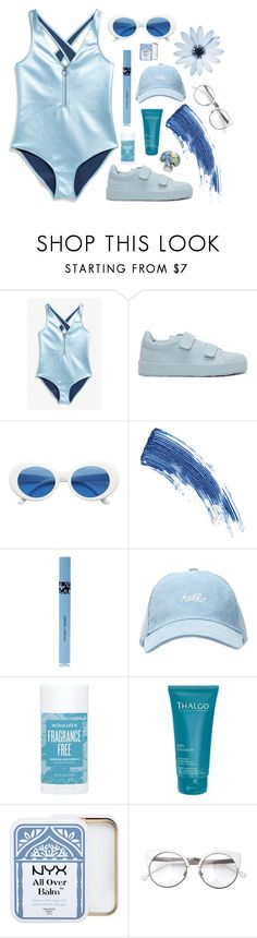 """Hello Blue"" by mode-222 ❤ liked on Polyvore featuring Monki, Jil Sander, Eyeko, COOLA Suncare, Schmidt's, Thalgo and Diane James"