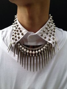 Studded, Spiked Collar
