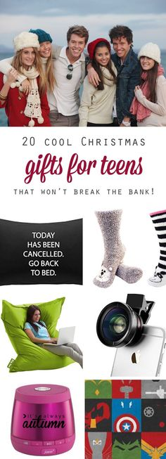 best Christmas gift ideas for teens: great holiday or birthday gift ideas for teenage boys and teenage girls. Very cool, fun ideas and some are pretty cheap, would work as stocking stuffers!