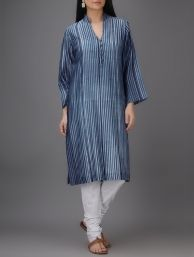 Buy Pink Pleated Mangalgiri Cotton Kurta by Jaypore Women Kurtas Online at Jaypore.com