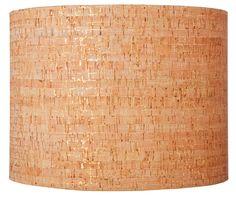 """13"""" Natural Cork Drum Lamp Shade"""