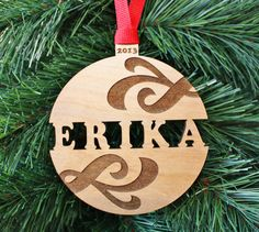 ~~Please see shop banner for up to date holiday processing times and ship dates~~ A traditional ball ornament with a fresh new take. This
