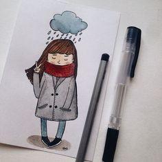 Девочка под дождем
