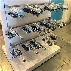 Retail Fixtures, Store Fixtures, Novelty Sunglasses, Perforated Metal, Metal Baskets, Eyewear, Display, Shapes, Bar