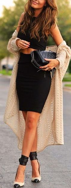 fashion black dress