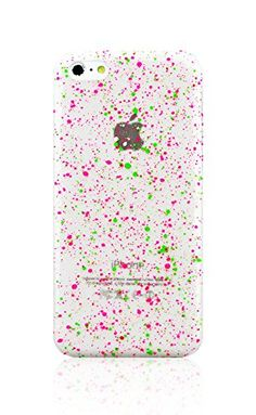 f48f114c3 Amazon.com: LiViTech(TM) Granite Stone Design Glow in The Dark Protective  Hard Case for Apple iPhone 5C (Green Hot Pink): Cell Phones & Accessories