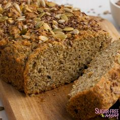Low Carb Flax Meal Bread Just carbs for 2 slices! Bread Recipes, Low Carb Recipes, Healthy Recipes, Freezer Recipes, Freezer Cooking, Low Carb Bread, Low Carb Keto, Protein Bread, Easy Meals