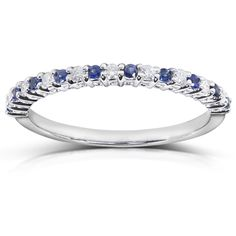 You Have a chance to Win A Kobelli Diamond & Blue Sapphire Band in 14k White Gold