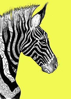 Sort of 'Zentangle' zebra - line design!