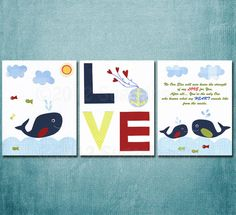 Unisex Nursery art  Neutral Nursery Art Print Set by SugarInspire, $39.95
