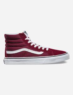VANS Sk8-Hi Slim Windsor Wine Womens Shoes Keen Shoes 3f443fd66eae