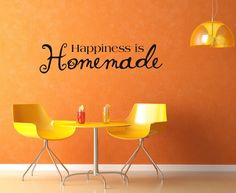 Vinyl Lettering Decal  Happiness is by DesignDivasWallArt on Etsy, $9.95