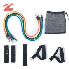 ZNL Trainingsband / Fitnessband für Yoga und Workout mit Griffen DLLS01