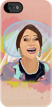 The Lizzie Bennet Diaries iPhone case (Lizzie As Mrs Bennet / Digital Painting by Jessica Slater) http://www.youtube.com/watch?v=KisuGP2lcPs