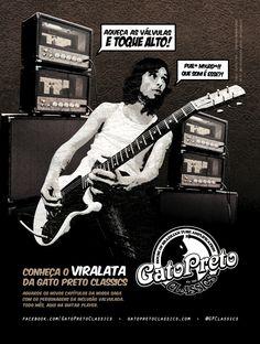 """Ad 1 - Guitar Player Magazine - Mar/13  Who: Chuck Hipolitho - Vespas Mandarinas  Campaign: """"Inclusão Valvulada"""""""