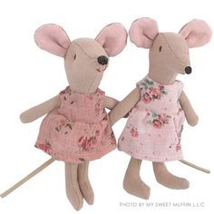 My Sweet Muffin - Maileg Princess Mouse Sewing Stuffed Animals, Stuffed Toys Patterns, Pet Mice, Felt Mouse, Sock Animals, Fabric Birds, Tiny Dolls, Sewing Toys, Doll Patterns