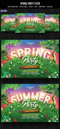 Spring Break Party | Flyer Template on Behance A Clean template ...