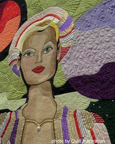 detail, Fly Me To The Moon by Jerry Granata, California. 2014 PIQF, photo by Quilt Inspiration