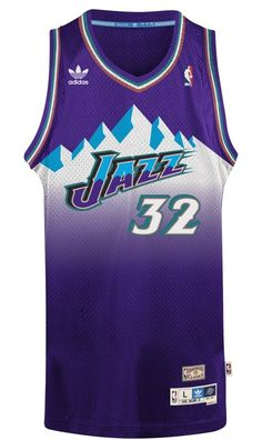 Amazon.com   Karl Malone Utah Jazz Adidas NBA Throwback Swingman