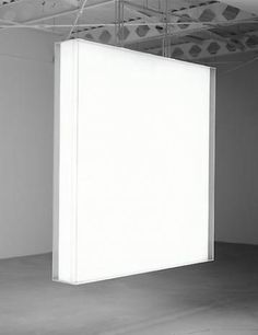 Mary Corse  Untitled, 1967  Plexiglas and light  72 x 72 x 10 inches  Photo courtesy of Ace Gallery