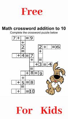 Use this grade math worksheet to boost your child math skills. Mental Maths Worksheets, Math Addition Worksheets, First Grade Math Worksheets, Maths Puzzles, 1st Grade Math, Grammar For Kids, Math For Kids, Fun Math, Math Skills