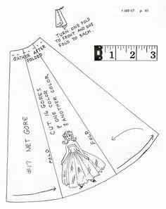 pattern for barbie skirt