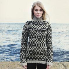Navia damesweater m mønster