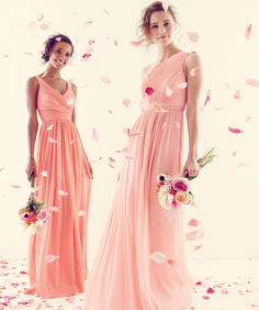 Pretty bridesmaid dresses the one with two straps could be a pretty wedding dress J Crew Bridesmaid Dresses, Wedding Bridesmaids, Wedding Dresses, Bridesmade Dresses, Rosa Pink, Wedding Wishes, Up Girl, Mode Style, Dress To Impress
