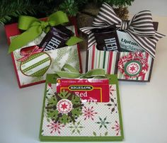 12 Days of Christmas Day 9 by geobeck - Cards and Paper Crafts at Splitcoaststampers Christmas Gift Card Holders, Christmas Favors, Christmas Paper Crafts, Christmas Tea, Stampin Up Christmas, Christmas Gift Wrapping, Christmas Decor, Paper Gifts, 3d Paper