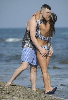 Back on: Geordie Shore star Chantelle Connelly packed on the PDA with Tommy Sayers during a beach break in Spain this week, less than two weeks after he publicly dumped her on Facebook
