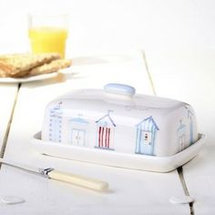 Dorset beach hut butter dish - CURATED BY NICKY SHERWOOD - INSPIRATION - shop | From Britain with Love