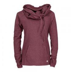 bleed clothing sherpa lightweight hoody ladies dark red melange
