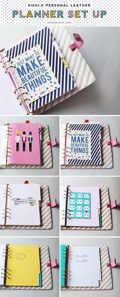 My Kikki K Pink Personal Planner Setup - planner divider tabs | DESIGN IS YAY