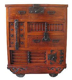 Japanese furniture - a type of Tansu from Edo Period, known as ...