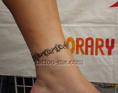 Ankle henna tattoo -