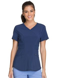 Cherokee Infinity V-Neck Top Scrubs Pattern, Scrubs Uniform, Medical Uniforms, Nursing Uniforms, Uniform Advantage, Womens Scrubs, Medical Scrubs, Scrub Tops, Lady V