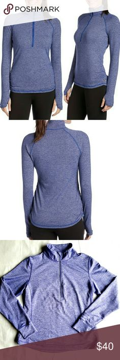 Lucy Dashing Stripes Half Zip Top This is a uniquely-soft run layer thanks to specially-engineered Tactel fabric bringing a new level of softness along with the anti-tear properties of nylon.   MATERIAL : 50% Supplex Nylon / 23% Polyester / 22% Tactel / 5% Spandex FIT : Contoured style lines for a slim fit FEATURES : Reflectivity, Thumbholes Worn a handful of times, in excellent LIKE NEW condition. Has a few snags inside (last picture) totally invisible on the outside. Lucy Jackets & Coats