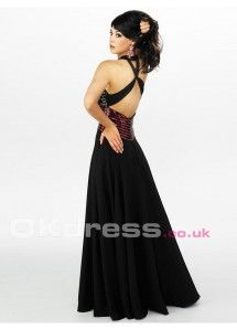 Floor-Length Sequin Cut-outs A-Line Long Formal Dresses