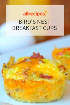 Bird's Nest Breakfast Cups Recipe – Special Recipes For Easter Easter Dinner Recipes, Brunch Recipes, Appetizer Recipes, Dessert Recipes, Brunch Ideas, Party Recipes, Breakfast Recipes, Breakfast Cups, Breakfast Items