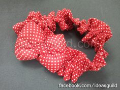 red dotted head band