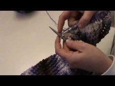 πλεξιμο με βελόνες - πλέξη με τρύπες - YouTube